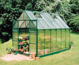 Halls Magnum Greenhouses, Green Frame, Polycarbonate