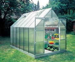 Halls Magnum Mill Finish Greenhouse with Polycarbonte