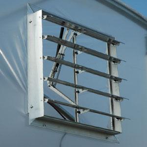 Solar Powered Intake Shutter