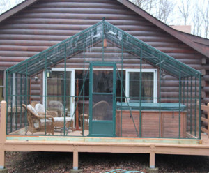 Gable End Attached Greenhouse