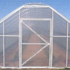 Gable End of Greenhouse with Polyfilm secured by using Batten Tape