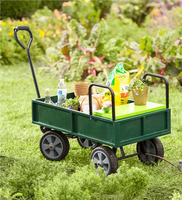 Garden Cart with Built In Seat