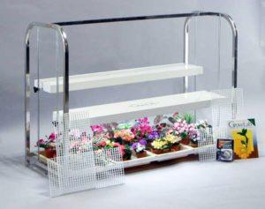 Grow Lab 1 Shelf, 4 Trays, Aluminum
