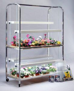Grow Lab, 2 Shelves, 8 Trays, Aluminum