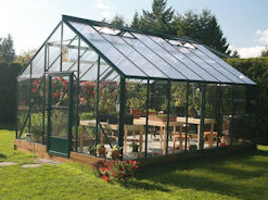 Acadian Greenhouses with Intermediate Roof Slope