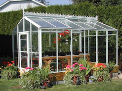 Acadian Glass Greenhouse with Standard Roof