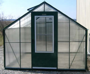 Americas Best Polycarbonate Greenhouse with Green Frame