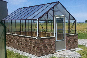 Polycarbonate Greenhouse with Clear Sides and Twinwall Roof