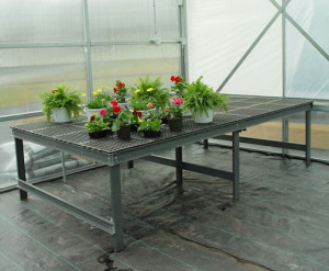 Gray Fiberglass Greenhouse Benches