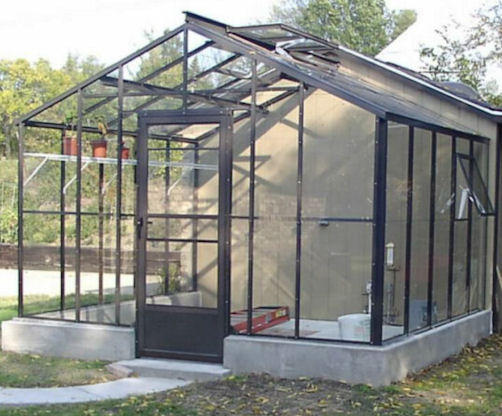 Gable End Attached Greenhouse Advance Greenhouses