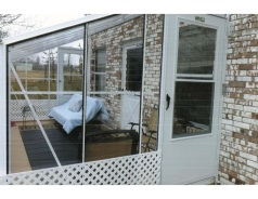 Clear Polycarbonate Lean To Greenhouse