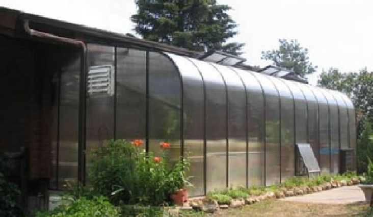 fascia attached lean to greenhouse