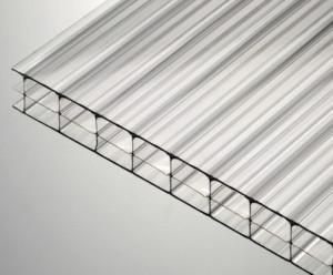 16mm clear triplewall Polygal polycarbonate sheets