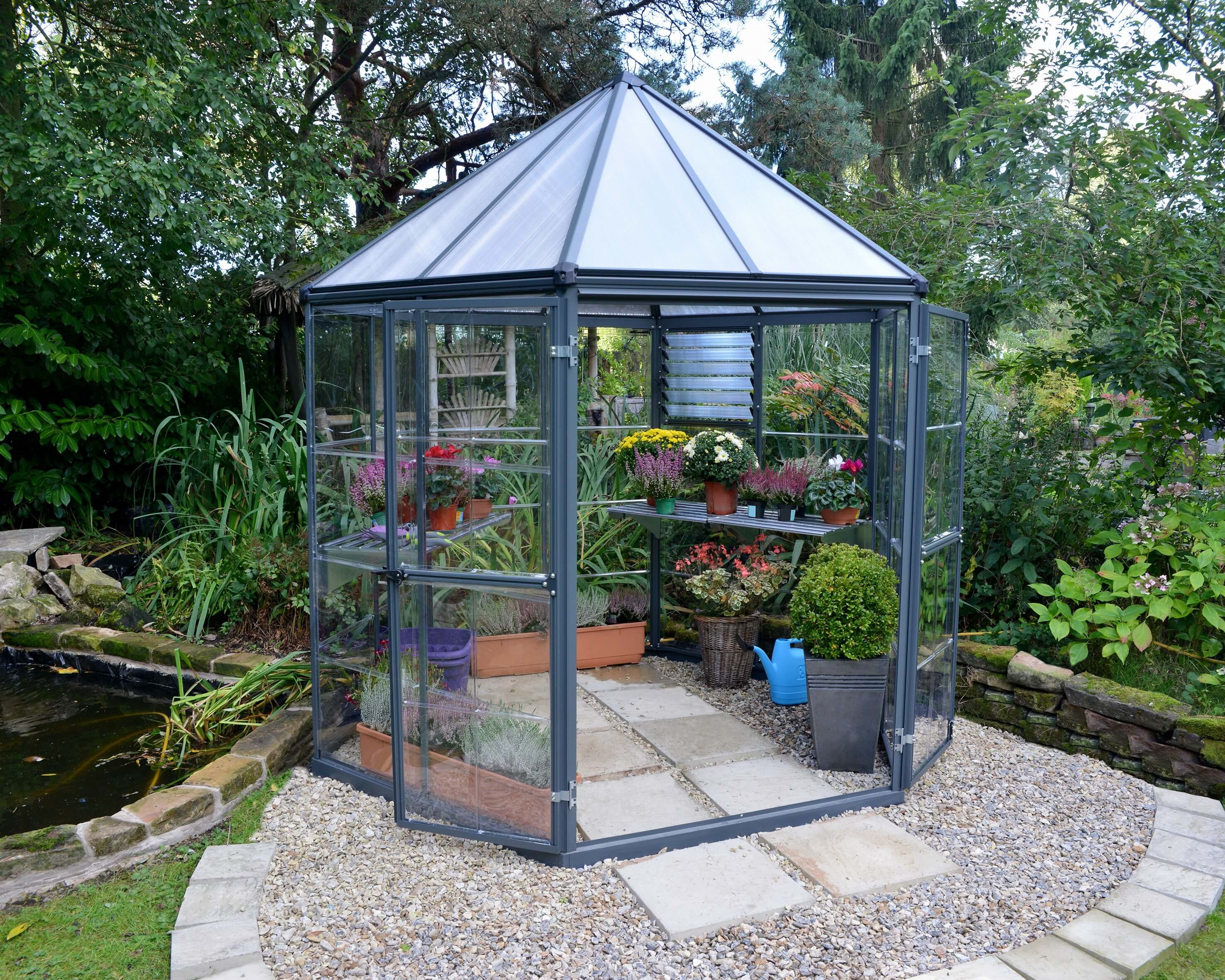 Hexagonal Greenhouse From Advance Greenhouses