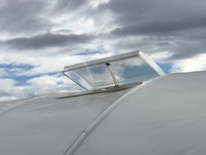 Polycarbonate Roof Vent with Solar Powered Opener