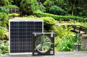 solar powered exhaust fan with solar panel