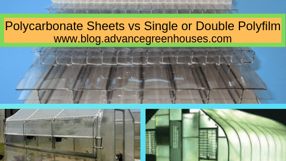 Polycarbonate Sheets vs Single or Double Polyfilm