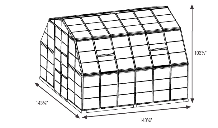Americana greenhouse size