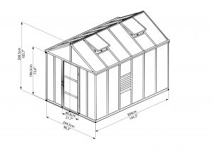 8 x 12 10mm polycarbonate greenhouse