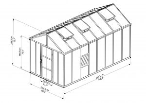 8 x 16 10mm polycarbonate greenhouse
