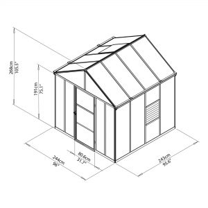 drawing 8 x 8 greenhouse