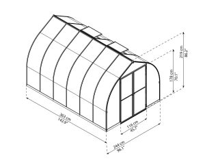 8 by 12 gothic arch style greenhouse