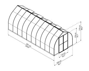 8 x 20 gothic arch style greenhouse