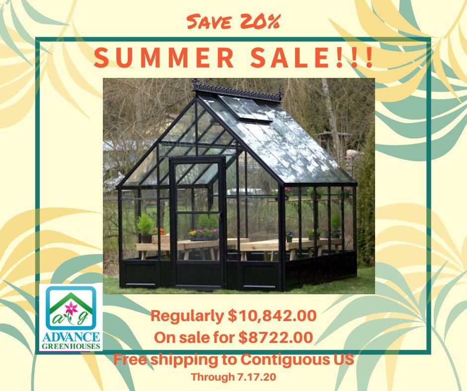Summer Sale Glass Greenhouse