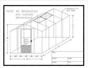 8 x 8 Acadian foundation sketch